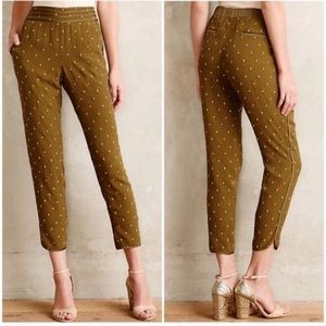 ANTHROPOLOGIE: ELEVENSES Goldform Pants
